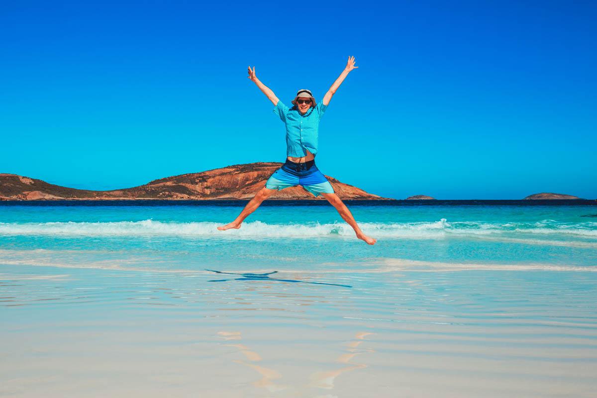Experience adventure at Lucky Bay, Australia.